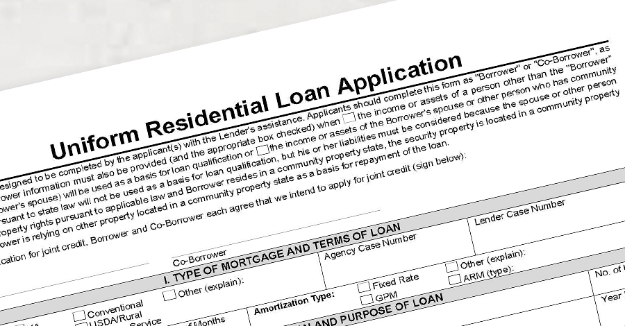 1003 mortgage application